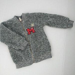 Disney Minnie Mouse gray fuzzy jacket size 2T